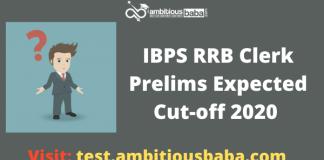 IBPS RRB Clerk Pre expected cutoff 2020
