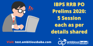 IBPS RRB PO Prelims 2020: 5 Session each as per details shared