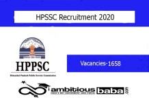 HPSSC for JE , Junior Draughtsman , Supervisory Trainee , Computer Operator Recruitment 2020 : 1658 Post check here