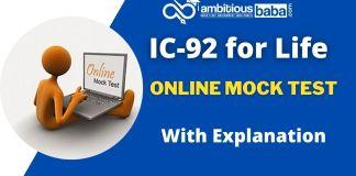 IC 92 Mock test