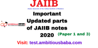 Important Updated parts of JAIIB notes 2020