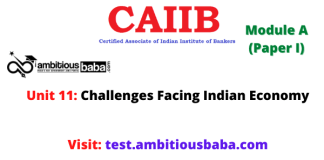 Challenges Facing Indian Economy: Caiib Paper 1 (Module A), Unit 11