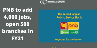 PNB to add 4,000 jobs, open 500 branches in FY21