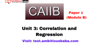 Correlation and Regression : Caiib Paper 1 (Module B)