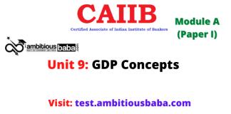 GDP Concepts: Caiib Paper 1 (Module A), Unit 9