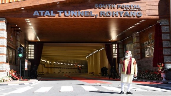 Atal Tunnel Rohtang: PM Modi inaugurates world's longest highway tunnel