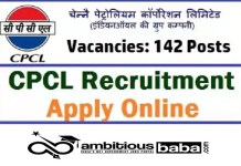 CPCL for Trade Apprentice Recruitment 2020 : 142 Post check here