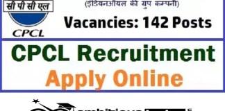 CPCL for Trade Apprentice Recruitment 2020 : 142 Post check here