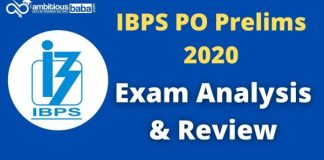 IBPS PO prelims 2020 exam analysis review