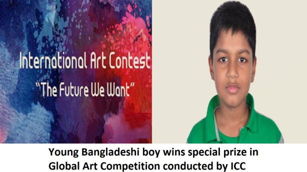 Young Bangladeshi boy wins special prize in Global Art Competition conducted by ICCR