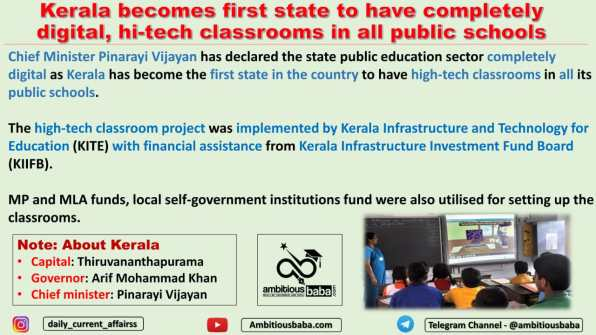 Kerala becomes first state