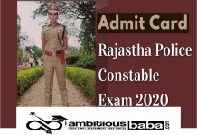 Rajasthan Police Constable GD, Driver 2020 Admit Card Out : Download Now