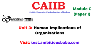 Human Implications of Organisations: Caiib