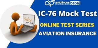 Aviation insurance IC 76 Mock Test
