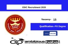 ESIC Delhi for Specialist Gr II (Jr Scale) Recruitment 2020 : 15 Post check here