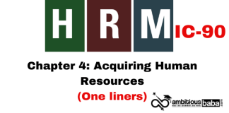 PARA 13.2|IC 90, HRM One Liner|Chapter-4 | Acquiring Human Resources