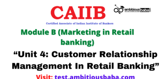 """""""Unit 4: Customer Relationship Management In Retail Banking"""""""