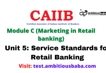 Service Standards for Retail Banking: CAIIB Retail banking