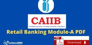 CAIIB Retail Banking Module A PDF