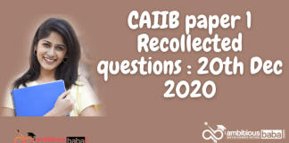 CAIIB paper 1 Recollected questions : 20th Dec 2020