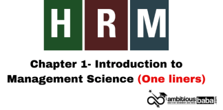 HRM-Chapter 1- Introduction to Management Science