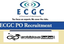 ECGC for Probationary officers (PO) Recruitment 2020 : 59 Post check here