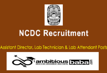 NCDC for Director, Technician, Attendant Recruitment 2020 : 24 Post check here