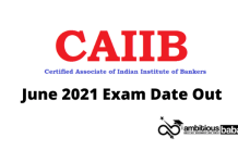 Caiib June 2021 Exam date out