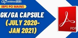 IBPS PO MAINS GK Capsule 2021