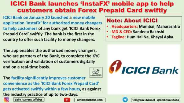 ICICI Bank launches 'InstaFX' mobile app to help customers obtain Forex Prepaid Card swiftly