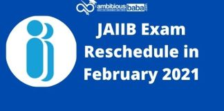 JAIIB Exam Reschedule in February 2021