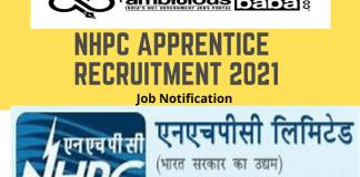 NHPC Ltd for Apprentice Recruitment 2020 : 51 Post check here
