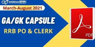 RRB PO and Clerk Mains Capsule pdf