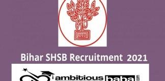 SHSB Bihar for Accountant Recruitment 2020 : 84 Post check here