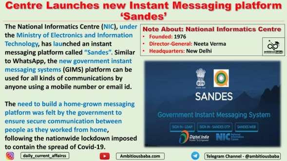 Centre Launches new Instant Messaging platform 'Sandes'