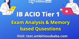 IB ACIO Tier 1 Exam Analysis and Questions Asked