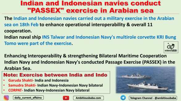 "Indian and Indonesian navies conduct ""PASSEX"" exercise in Arabian sea"