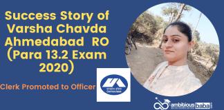 Success Story of Varsha Chavda Ahmedabad RO (Para 13.2 Exam 2020)