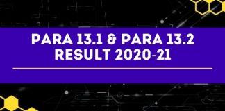 Para 13.2 Result