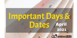 Important National and International Days in April 2021