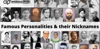 List of Famous Personalities & their Nicknames