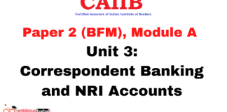 Correspondent Banking and NRI Accounts: CAIIB