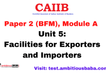 Facilities for Exporters and Importers: CAIIB