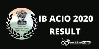 IB ACIO Result Phase-1