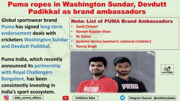 Puma ropes in Washington Sundar, Devdutt Padikkal as brand ambassadors