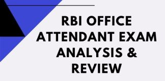 RBI Office attendant exam analysis & review