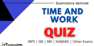 Time and Work Daily Quiz