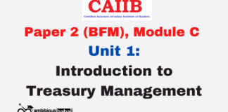 Introduction to Treasury Management: CAIIB