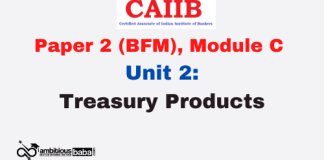 Treasury Products: CAIIB