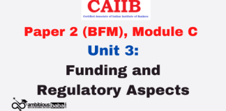 Funding and Regulatory Aspects: CAIIB